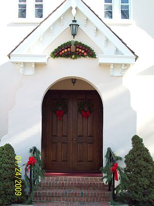 Christ Church (Port Republic, Maryland) - Image: Christ Church Door Dec 08