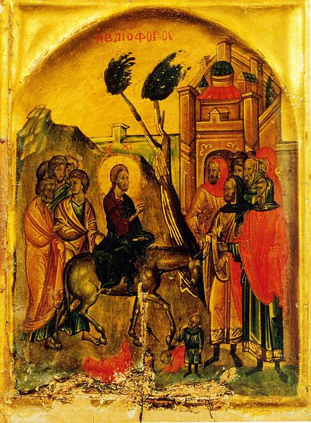 File:Christ entering Jerusalem icon.jpg