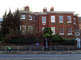 The Old Court House house located off Hampton Court Green in Richmond upon Thames