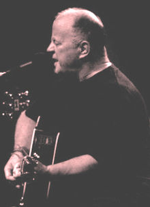 Christy Moore in the Royal Liverpool Philharmonic, October 2008.