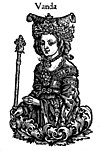 Imaginary depiction of Wanda in Chronica Polonorum