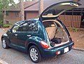 Chrysler PT Cruiser green open tailgate-r.jpg