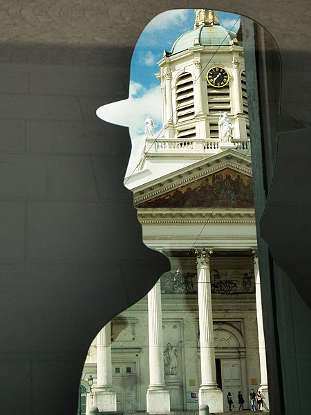 File:Church of Saint Jacques-sur-Coudenberg in Mirror.JPG