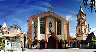 Biñan - San Isidro Labrador Parish Church, located at the downtown city plaza of Barangay Poblacion.