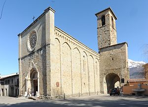 Church of Sant'Agostino, Amatrice - Image: Church of Sant'Agostino in Amatrice, 2012 (crop)
