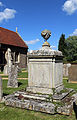 Church of St Christopher, Willingale, Essex, England - exterior tomb in south churchyard.JPG