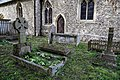 Church of St Margaret of Antioch, Margaret Roding Essex England - graves south of chancel.jpg
