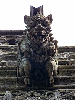 Church of the Holy Cross Great Ponton Lincolnshire England - tower gargoyle 2