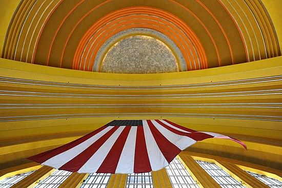 The ceiling of the Cincinnati Museum Center at Union Terminal in Cincinnati, Ohio.