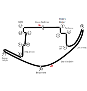 United States Grand Prix West - Image: Circuit Long Beach