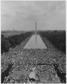 Civil Rights March on Washington, D.C. (Aerial view of the crowd assembling with a good view of the Reflecting Pool... - NARA - 542047.tif