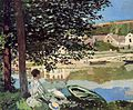 Claude Monet River Scene at Bennecourt, Seine (2).jpg