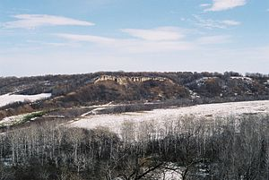 Pembina Valley Region - The Clay Banks buffalo jump, by Cartwright.