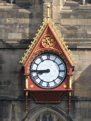 Potts of Leeds - Characteristic hands and face of a Potts clock (Newcastle Cathedral)