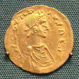 Merovingian dynasty - Coin of Chlothar II, 584-628. British Museum.