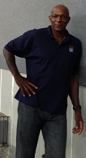Clyde Drexler - Drexler poses during NBA Global Games in the Philippines in 2013.