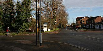 Oakington - Village crossroads viewed from the southwest