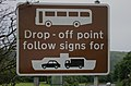 Coach drop-off point sign on Soroba Road, Oban, July 2020.jpg