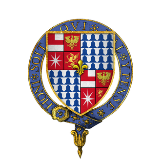 Edward Woodville, Lord Scales - Arms of Sir Edward Woodville, KG.