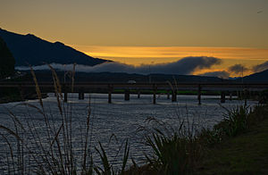 Cobden, New Zealand - Bridge between Cobden and Greymouth centre