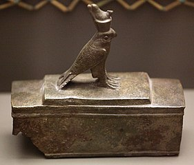 Coffin or reliquary ornated with a falcon-A 2004-87