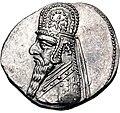 Coin of Gotarzes I (2, cropped), Ectbatana mint.jpg