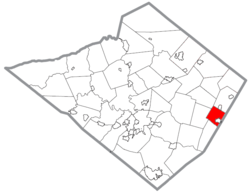 Location of Colebrookdale Township in Berks County