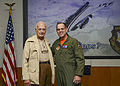 Colonel Eugene Deatrick (ret) and Colonel Charles Webb Test Pilot School Commandant USAF October 22. 2014. 141020-F-IW159-006.jpg