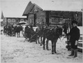 Colonel George E. Stewart, commanding American forces in Northern Russia, passing by convoy through village of Chamova o - NARA - 531146.tif