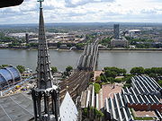View from the tower of Cologne Cathedral