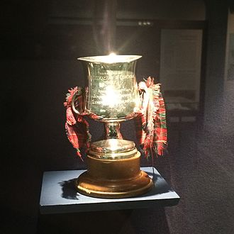 Lochcarron Camanachd - The Conchra Cup - A small shinty trophy played for by teams from Loch Alsh and Lochcarron