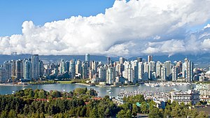 Skyline of downtown Vancouver