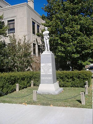 Confederate Soldier Monument in Caldwell - Image: Confederate Soldier Monument in Caldwell 2
