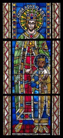 Конрад II и др принц имперские, Витраил романский, Cathédrale де Strasbourg.jpg