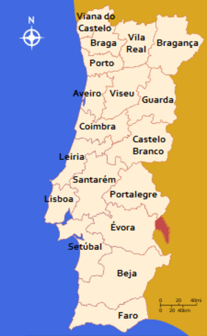 Districts of Portugal - Image: Continental Portugal districts