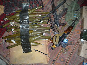 Contraband - Contraband weapons seized by an Afghan and coalition security force during an offensive security operation in Nangarhar. The security force was in pursuit of the primary Taliban facilitator for foreign fighters and attacks against high-interest targets within eastern Afghanistan.
