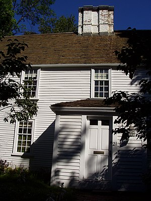 Cooper–Frost–Austin House - Part of front facade with enclosed porch