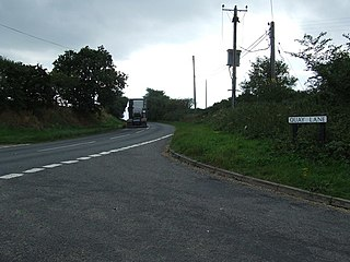 A1095 road road in England