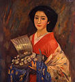 Court Lady with Takarabune by Fujishima Takeji.jpeg