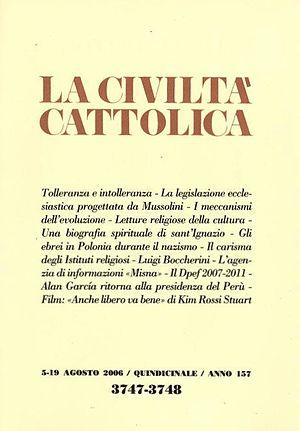 La Civiltà Cattolica - Cover of the issue of 5 August 2006.