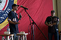 Craig Stammen and Ross Detwiler address crew of USS John C. Stennis.jpg