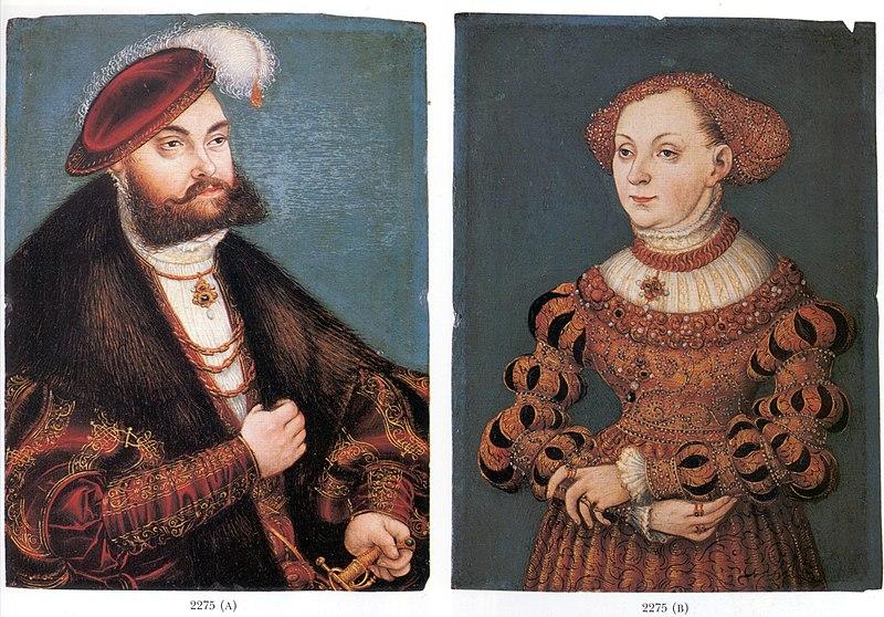 Doppelporträt Johann Friedrich von Sachsen-Sibylle von Cleve