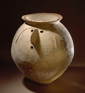 Vedic period - Cremation urn of the Gandhara grave culture (c. 1200 BCE), associated with Vedic material culture