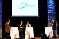 Cristina Husmark Pehrsson, nordisk samarbetsminister sverige och Karen Ellemann, Danmarks miljominister och minister for nordiskt samarbete pa oresundstinget i Malmo 28 maj 2010 (1).jpg