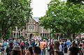 Crowd outside Minnesota governor's mansion (27881571390).jpg