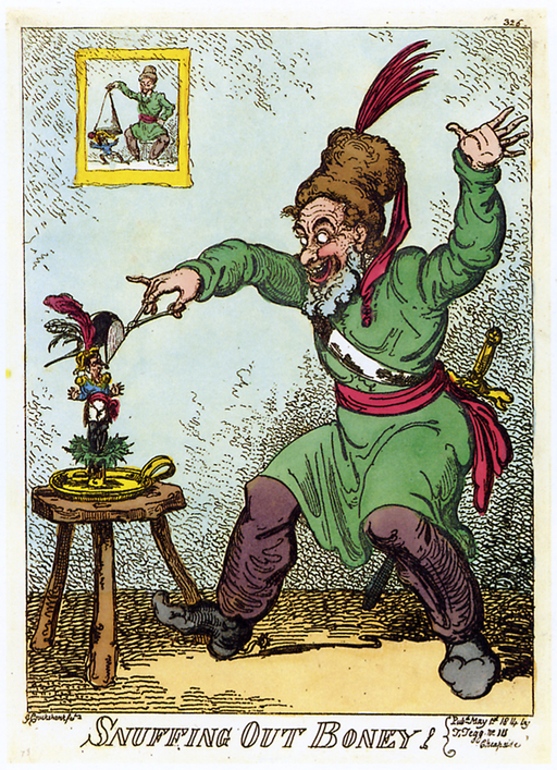 Cruikshank - Snuffing out Boney