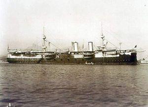 Brazilian cruiser Almirante Tamandaré (1890) - Image: Cruzador Protegido Tamandaré (Marc Ferrez)
