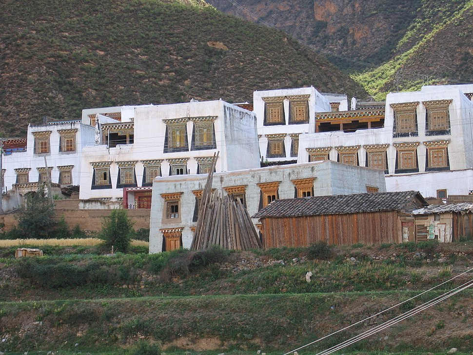 Cubical houses in Xiangcheng