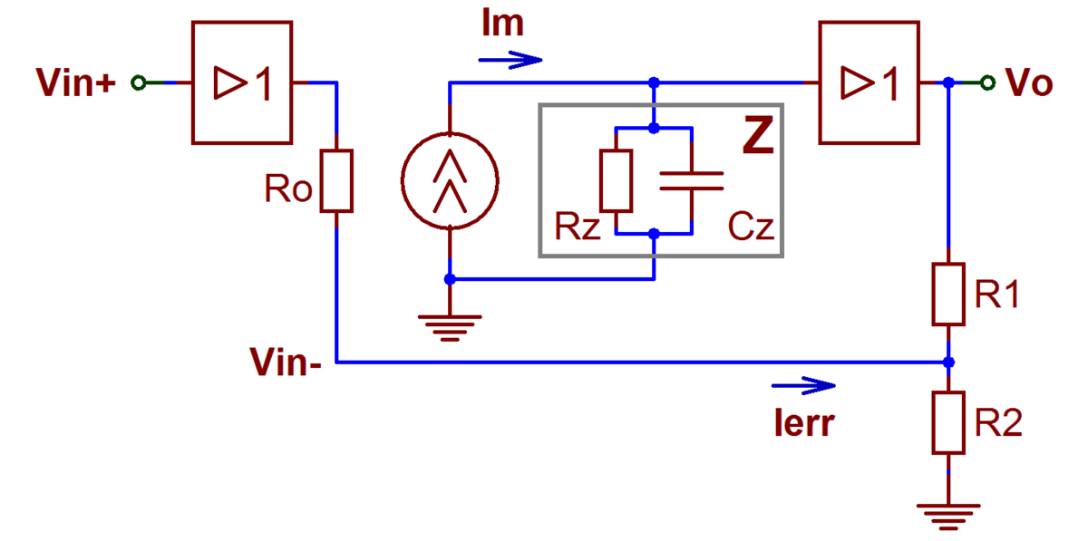 File:Current feedback op amp ideal noniverting.png ...