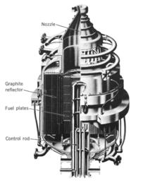 cutaway diagram of kiwi rocket engine
